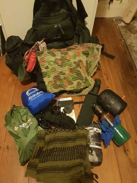Mathew Ramadan's 72 hour pack which includes everything he and his family would need to survive for 72 hours or more in the wilderness