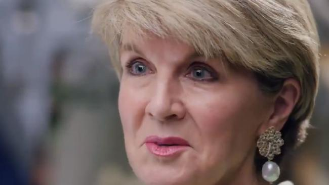 Julie Bishop sat down with 60 Minutes to talk about the culture of parliament. Picture: Channel 9