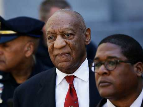 Bill Cosby, centre, leaves the Montgomery County Courthouse in Norristown, Pa., after being convicted of drugging and molesting a woman. Picture: Matt Slocum