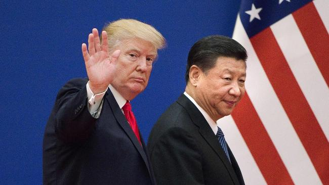 Donald Trump's trade war with China could be the biggest barrier to Prime Minister Scott Morrison's strategy to win the next election. Picture: AFP