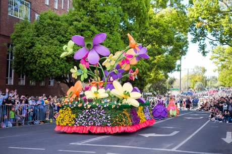 Grand Central's float in the 2017 Grand Central Floral Parade