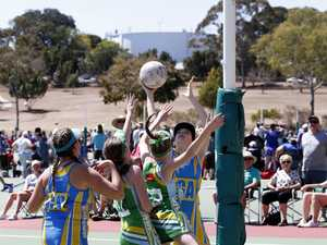Action from the Ipswich netball grand finals played