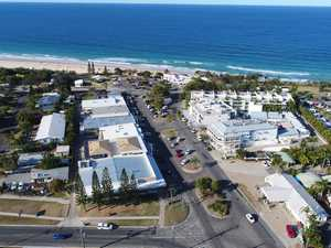 Aerial footage of Rainbow Beach.