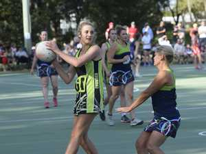 City Thunder's Charlotte Sommer receives the ball at
