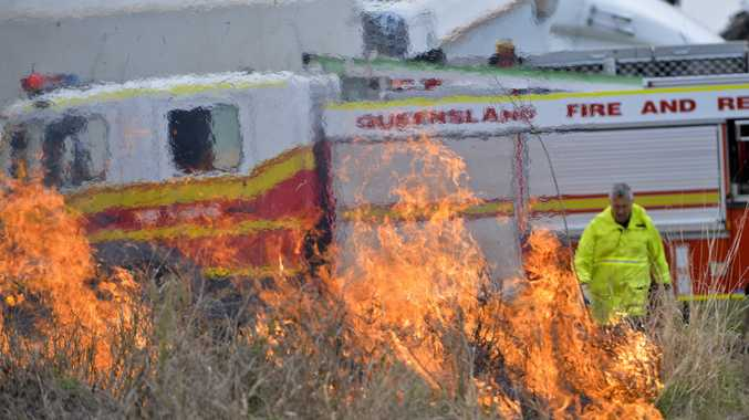 Grass fire at Perry Street Bushland.