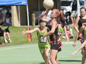 Action from the Grafton Netball Association 9-10
