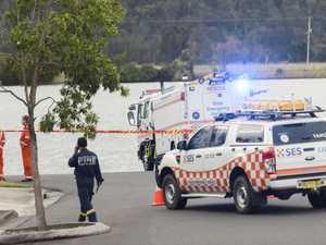 Crime scene established after car enters river