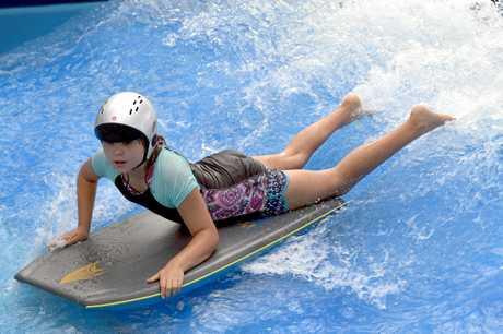 Danae Wislang at WetSide Water Park.