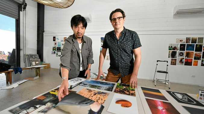 Masahiro Nakata and William Debois at Photopia Studio Crow St Creative.