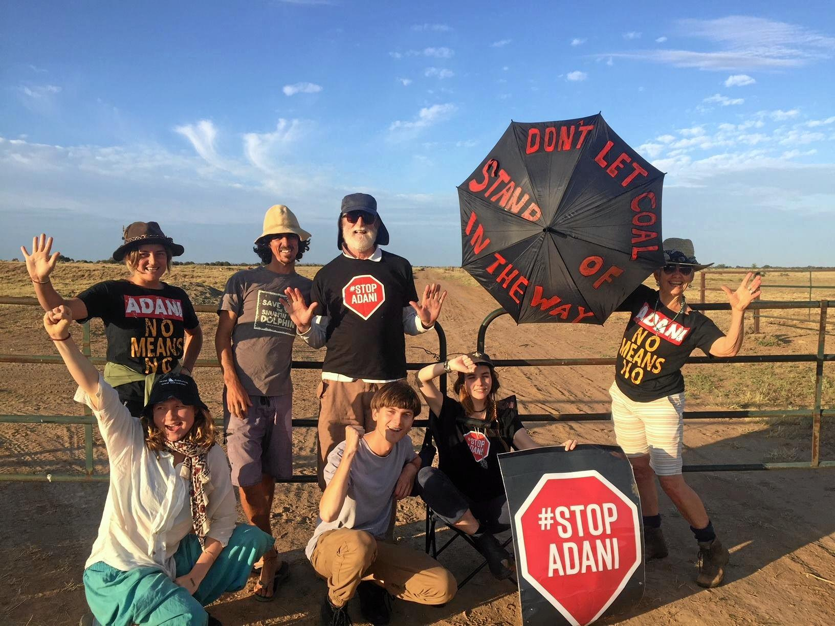 CHILDISH TANTRUM: Front Line Action on Coal (FLAC)  at an anti-Adani protest. Senator Matt Canavan has likened the anti-coal mine activists to frustrated children throwing the teddy out of the baby cot when they don't get their own way.