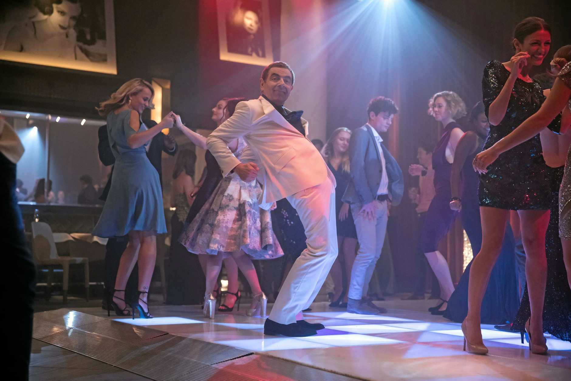Rowan Atkinson in a scene from the movie Johnny English Strikes Again. Supplied by Universal Pictures.