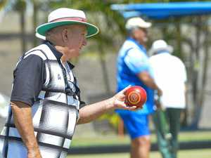 Lawn bowls action
