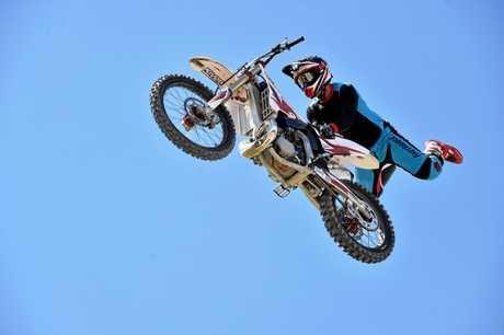 Zachary Mackenzie will be performing his motocross stunts at the Sunshine Coast Stadium in November.
