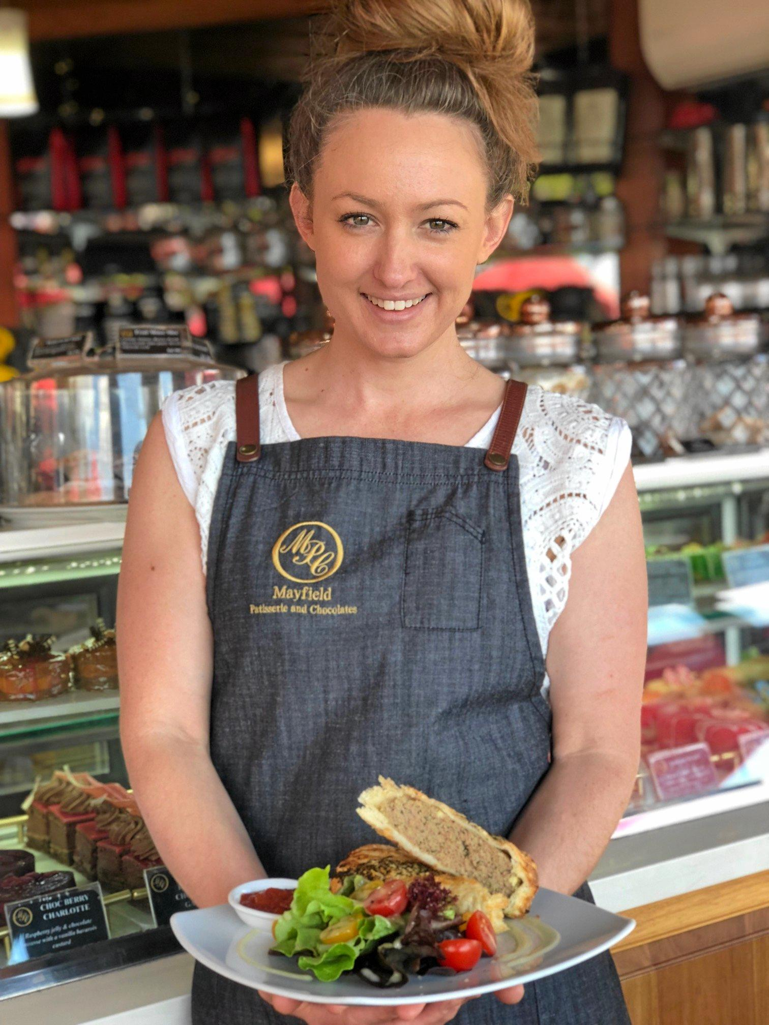 Mayfield Patisserie and Chocolates supervisor Rachel Greggery says a national award for the Montville business's lamb, spinach and feta sausage rolls will help bring more customers.