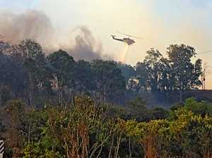 100 trucks, 6 choppers are tip of Woolooga firefight numbers