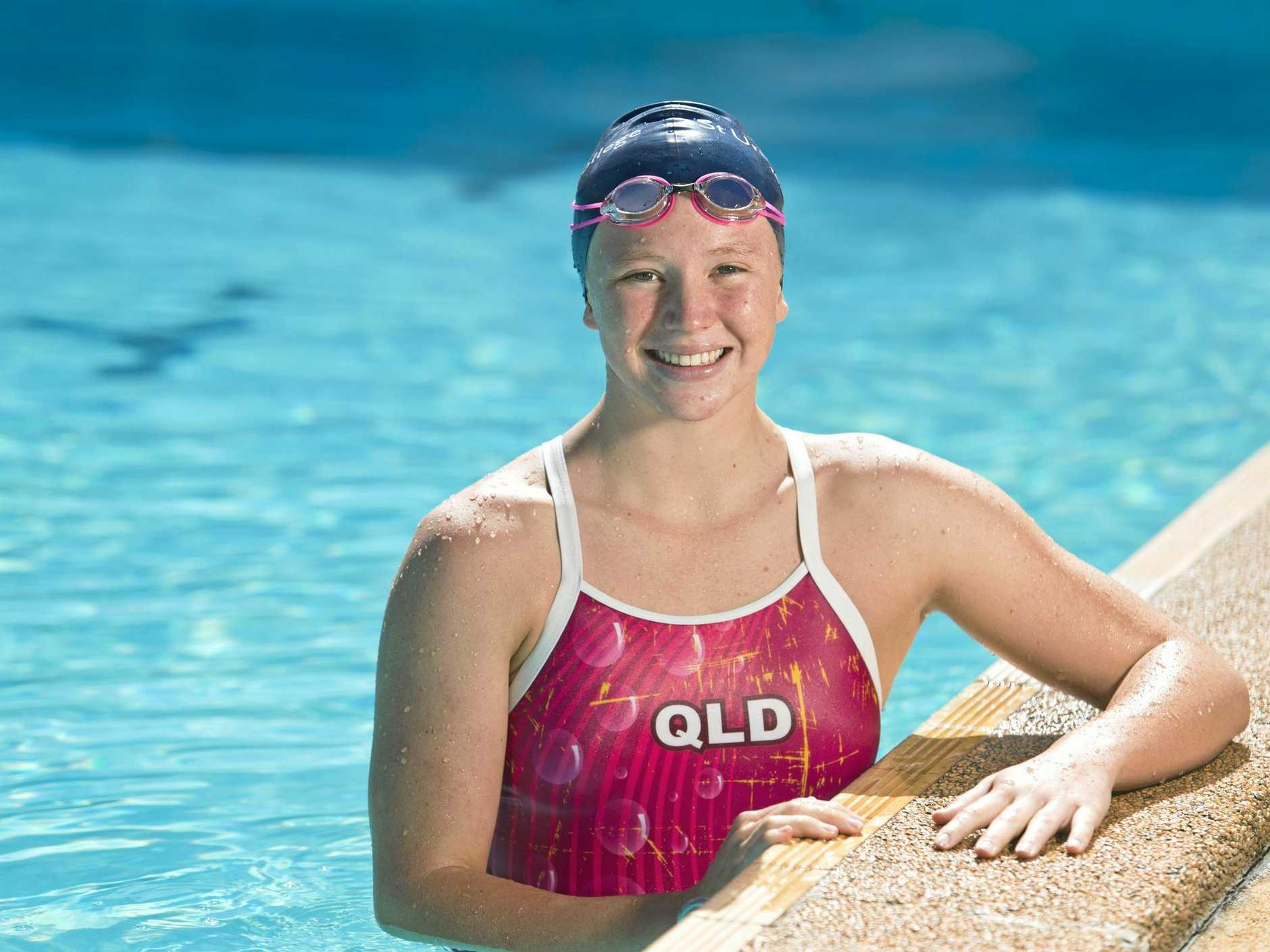 St Ursula's College swimmer Isabelle Mason will trial for the Commonwealth Games, Thursday, February 8, 2018.