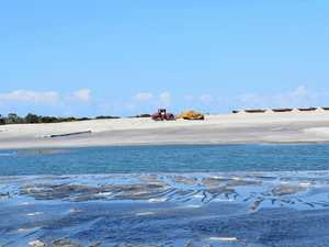 Airport dredge creates Coast's most exclusive beach