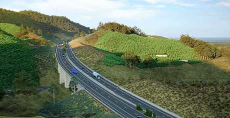 An  artist's impression of the Shephards Lane cutting.