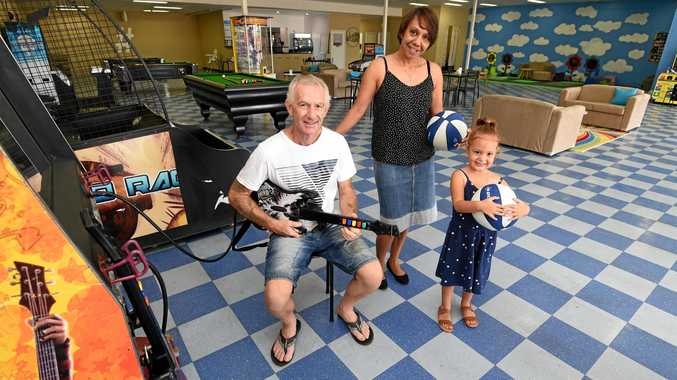 FAMILY SPACE: Gilly's Place owners Andrew and Renee Gillane with daughter Bethan. Despite the sad news of the cafe closing, Ms Gillane is proud of the influence the business has had with the special needs and youth communities in Hervey Bay.