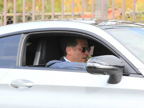 Karl Stefanovic leaving the Channel 9 Studio after co-host Lisa Wilkinson quit the show. Picture: Danny Aarons