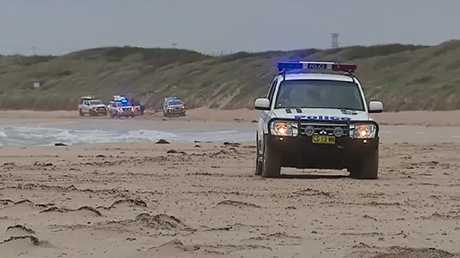 Police have swamped the area. Picture: Nine News Sydney