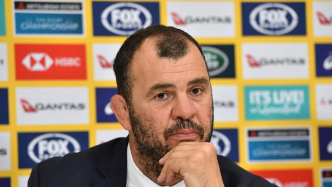 Michael Cheika is under pressure as teh Wallabies continue to struggle on the field. (AAP Image/Darren England)