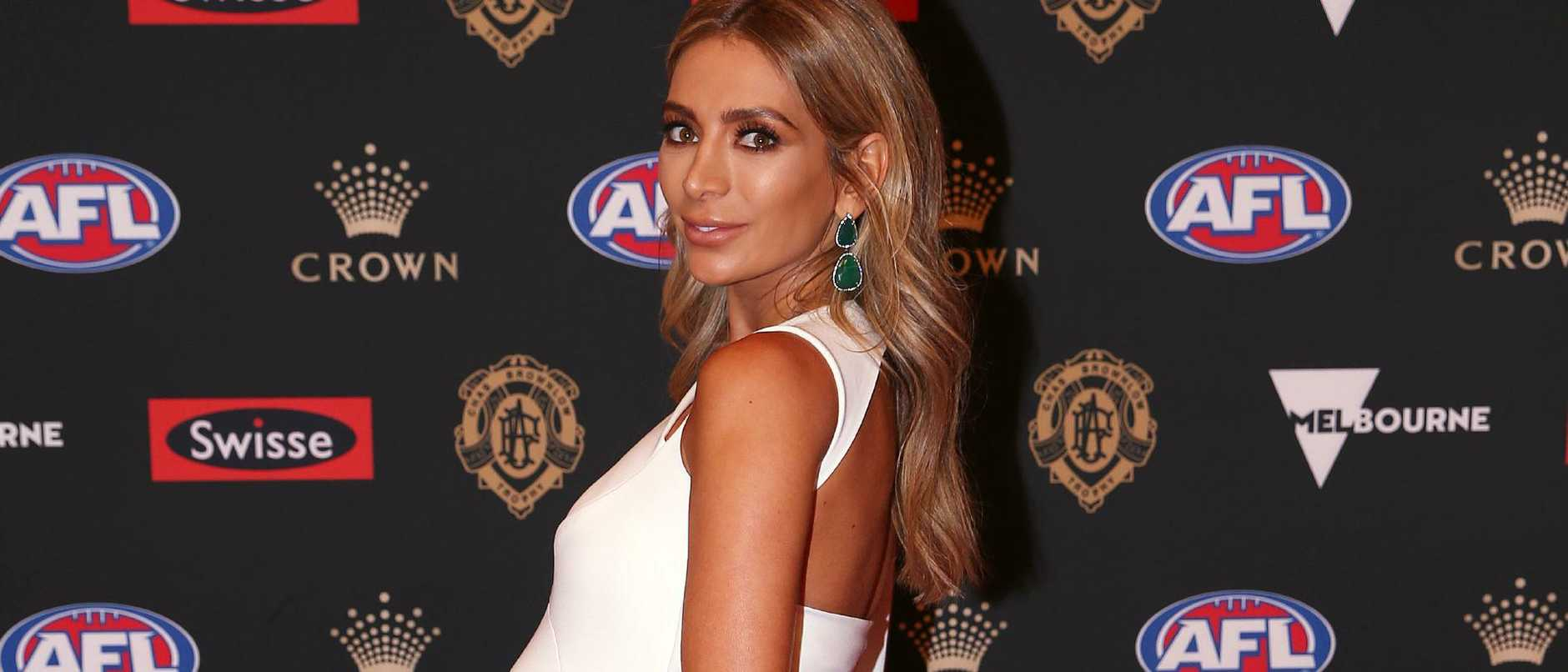 Nadia Bartel on the 2018 Brownlow red carpet. Pic: Michael Klein