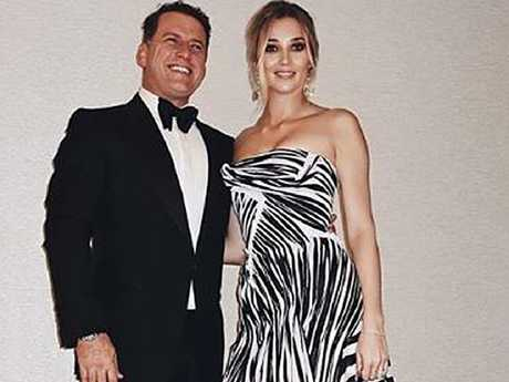 Karl Stefanovic and Jasmine Yarbrough at the Logies. Picture: Instagram/@elliotgarnaut