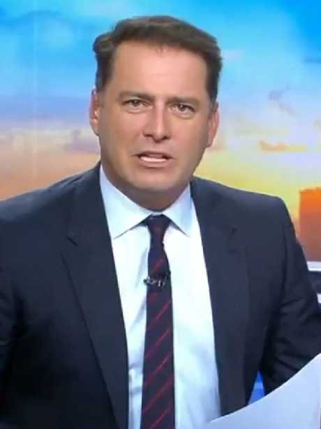 Karl Stefanovic on the Today show.