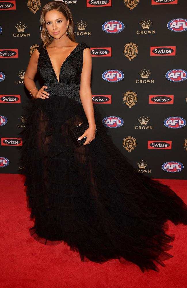 Lucy McArthur arrives ahead of the 2018 Brownlow Medal.