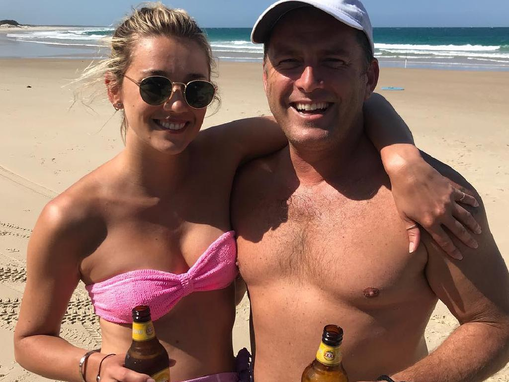 Karl Stefanovic and Jasmine Yarbrough relaxing together. Picture: Instagram