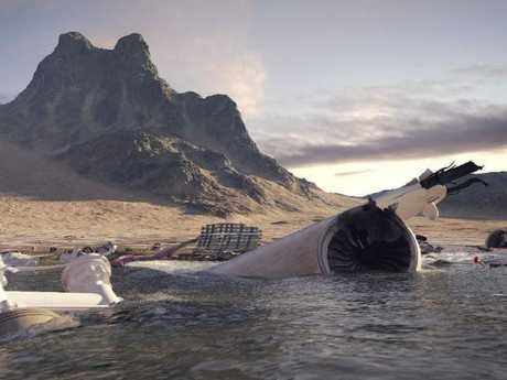 What the wreckage could look like. Picture: National Geographic