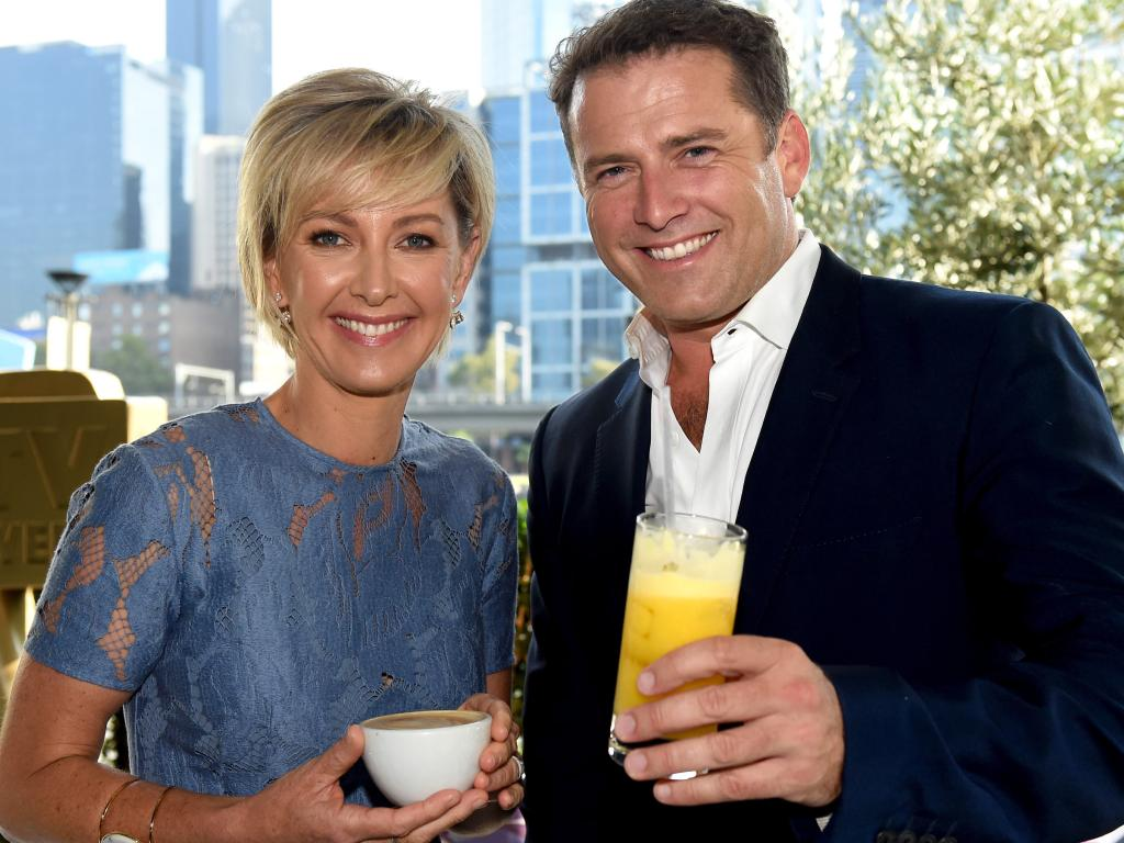 Deborah Knight and Karl Stefanovic have been on-air together a few times this year. Picture: Kylie Else