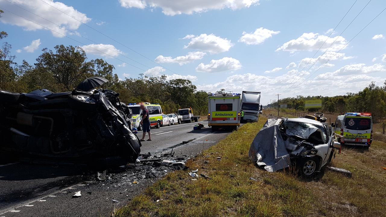 Two people, including a eight-year-old Olivia Douglas, died in the fatal crash on the Bruce Hwy, south of Childers.