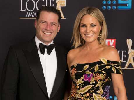 The Logies 2018 Picture: Karl Stefanovic, and Georgie Gardener. Picture: Supplied