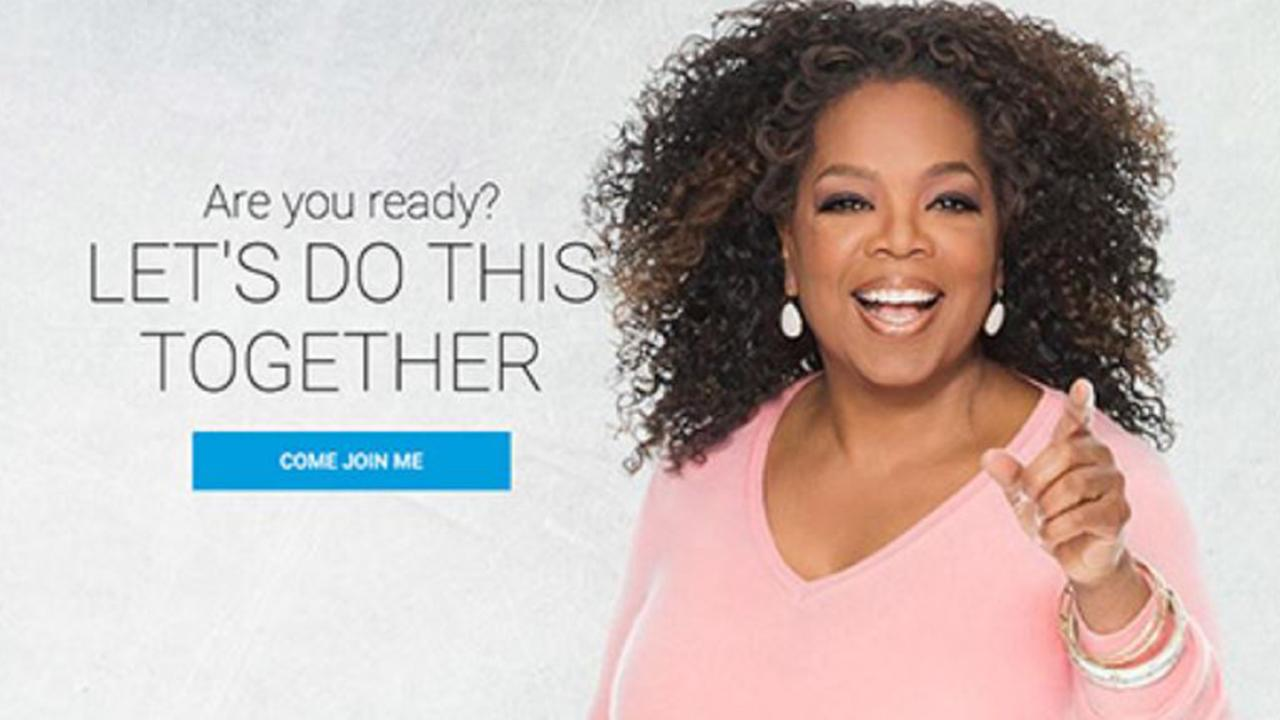 Oprah Winfrey has been a Weight Watchers spokeswoman for months. Picture: Weight Watchers