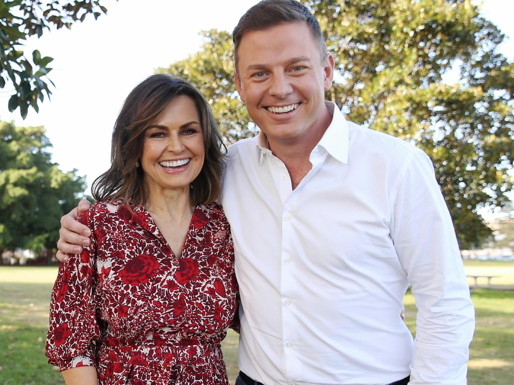 Lisa Wilkinson with Ben Fordham celebrating 10 years on Today Show in May 2017. Picture: Stephen Cooper