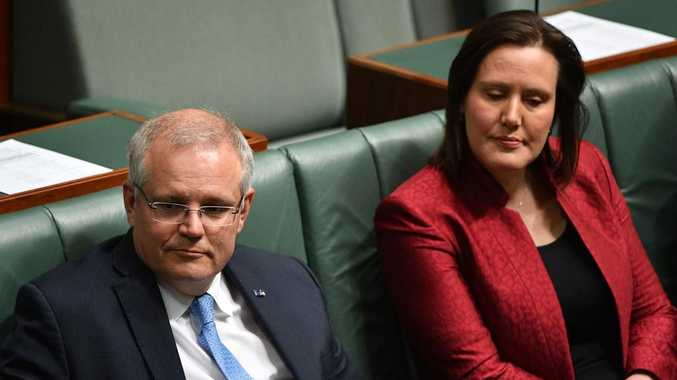 Prime Minister Scott Morrison and Minister for Jobs, Industrial Relations and Women Kelly O'Dwyer. Picture: AAP
