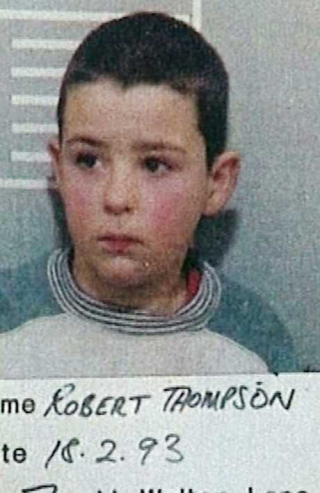 Robert Thompson was just 10 when he and Jon Venables killed two-year-old James Bulger. Picture: Supplied