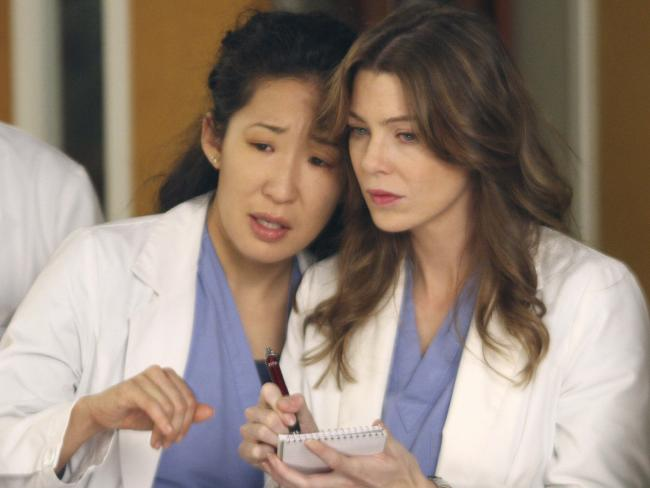 Ellen Pompeo has seen co-stars — like Sandra Oh (left) — come and go.
