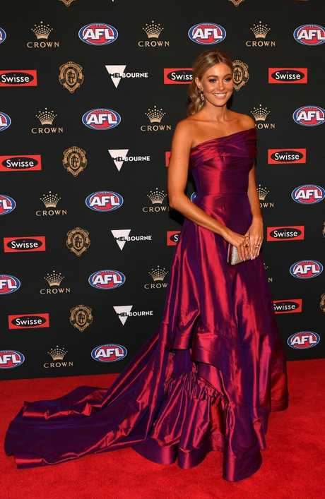 Alice Gough, partner of Paul Seedsman of Adelaide on the 2018 Brownlow red carpet.