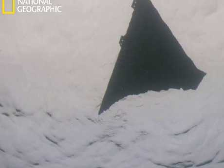 The triangle-shaped piece of wreckage. Picture: National Geographic