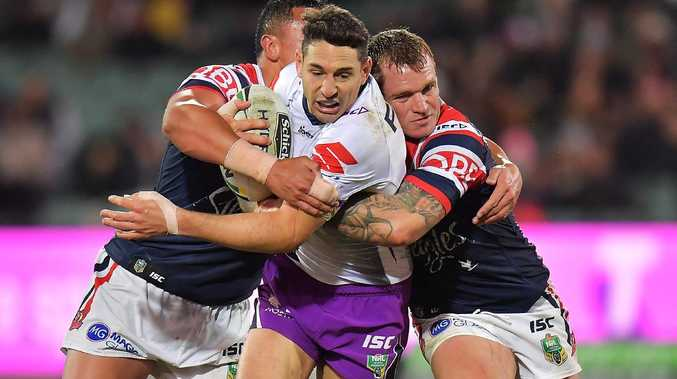 Billy Slater could miss the grand final through suspension.