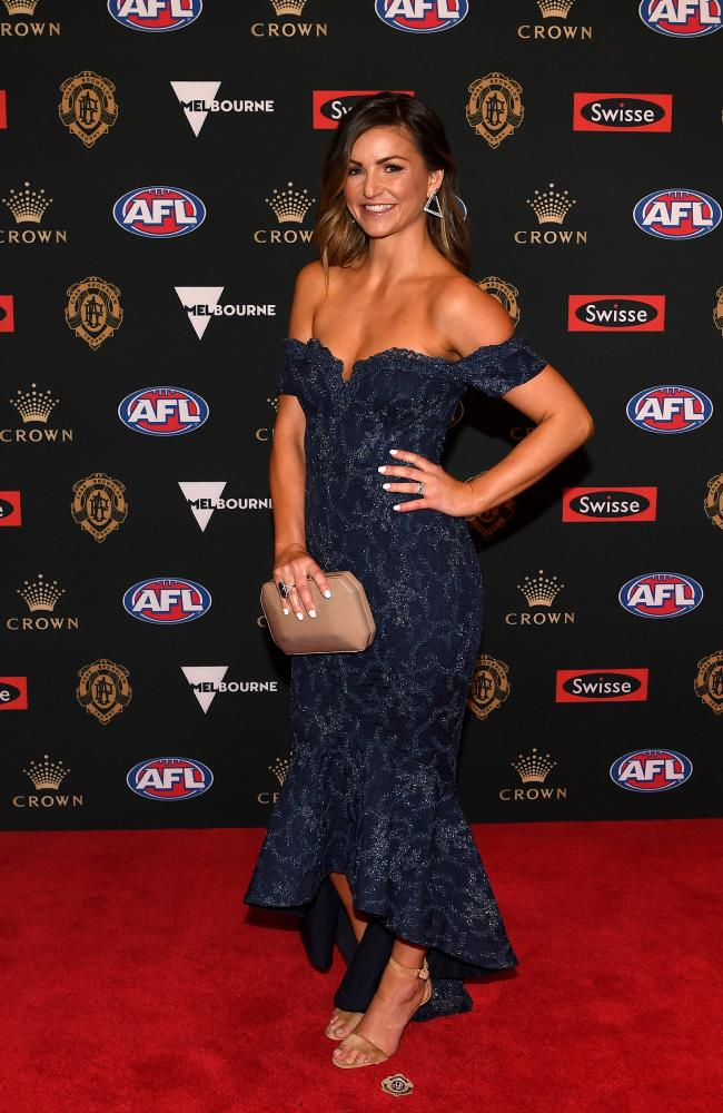 Rosie Goddard, wife of Brendon Goddard of Essendon.