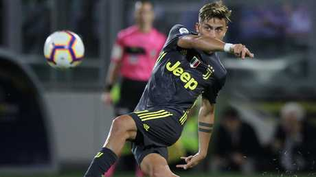 Paulo Dybala sprays a pass out wide.
