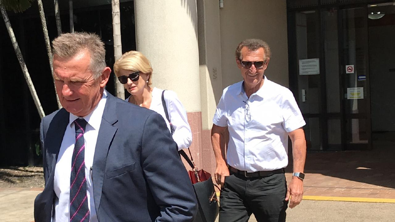 Tom Hedley (right) is the owner of Northern Sands, which pleaded guilty in the Cairns Magistrates Court.