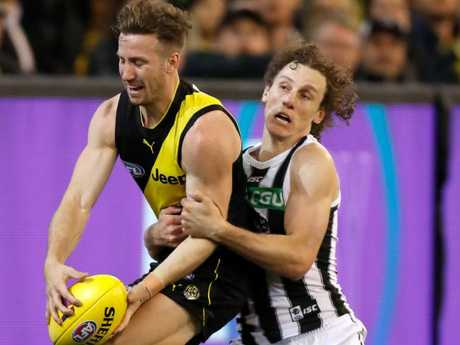 Mayne has made a name for himself as a tackling machine as the Tigers found out on Friday night. Picture: AFL Media/Getty Images