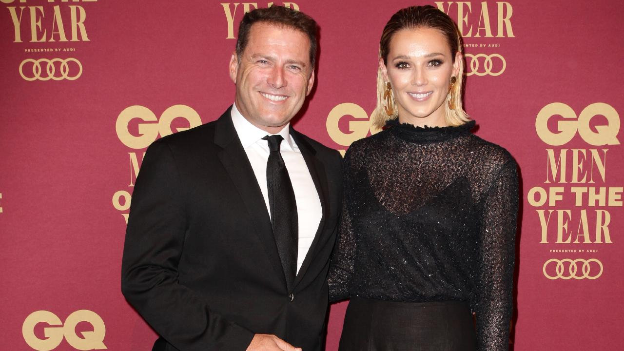Karl Stefanovic and Jasmine Yarbrough at the GQ Men Of the Year Awards. Picture: Christian Gilles