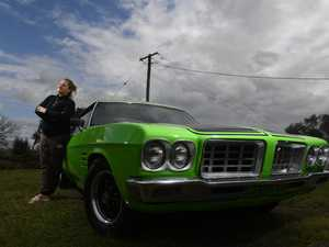 Melinda Freier with her fully-restored 1973 HQ Monaro
