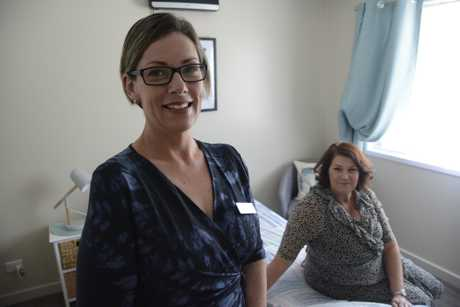 YWCA community services manager Kylie Elisaia and Birds of a Feather committee member Jane Degnian in one of the rooms of the YWCA's newly-refurbished Betty Willis Wing, which gives single women urgent accommodation while they find their feet.